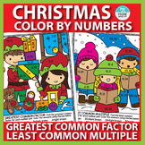 Christmas Color by Number Greatest Common Factor & Least Common Multiple