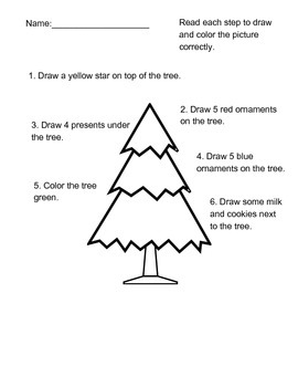 Christmas Color by Number, Letter, Directions, and More