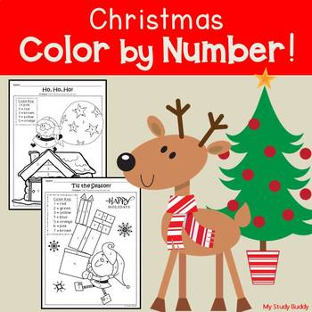 Christmas Color by Number: Numbers 1-20 (Kindergarten)