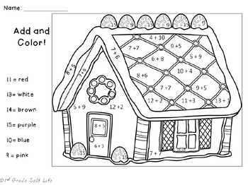 Christmas Color by Number / Christmas Coloring Pages