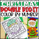 Color by Number Christmas Mystery Pictures: Double Digit Addition & Subtraction