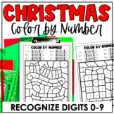 Christmas Color-by-Number | Recognize Digits 0-9 | Number