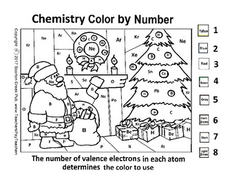 Christmas Chemistry Color by Number - Valence