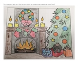 Christmas Color by Number Slope Activity