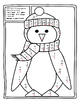 Penguin Winter Color by Number Subtraction Winter Math Act