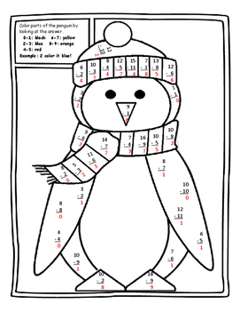 Christmas Color by Number Christmas Math Christmas Color by Number