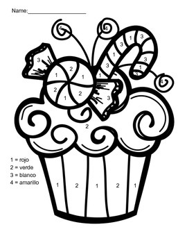 spanish coloring pages christmas | Christmas Color by Number Worksheets in Spanish by Michael ...