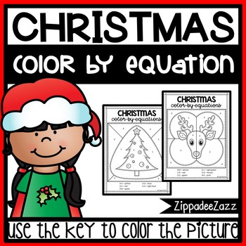 Christmas Color by Numbers Color by Sum