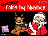 Christmas Color-by-Numbers - Teens