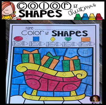 Christmas Color by Code Shapes