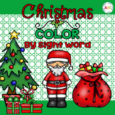 Christmas Color by Sight Word