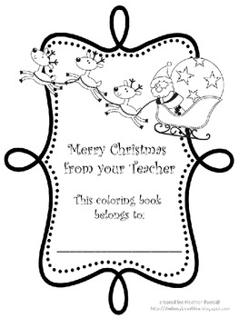 Christmas Color by Sight Word Coloring Book