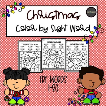 Christmas Color by Sight Word *FRY Words 1-80*