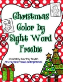 Christmas Color by Sight Word Freebie