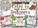 Christmas Color by Sight Word Sentences (The BUNDLE)