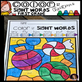 Christmas Color by Code Sight Words First Grade