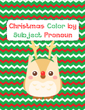 Christmas Color by Subject Pronoun (Present Tense)