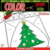 Christmas - Color by number - ADDITION - SUBTRACTION and WORD
