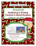 Multiplying and Dividing Fractions - Christmas Color-code Activity