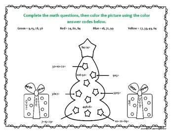 Christmas Color me Math  (U.S.)