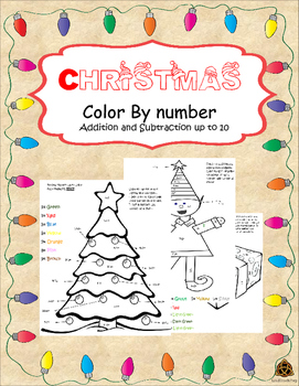 (Winter Holiday Christmas) Color by Numbers
