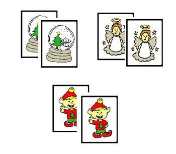 Christmas Colored Memory Game (34 pairs of cards)