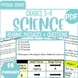 Physical Science Reading Comprehension Passages & Questions | Bundle | Grade 3-4