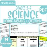 Physical Science Reading Comprehension Passages & Questions {Bundle} Gr3-4 (PDF)