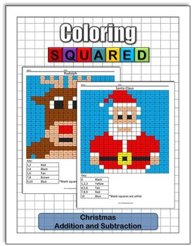christmas coloring addition and subtraction christmas coloring addition and subtraction