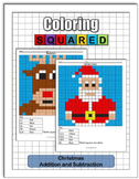 Christmas Coloring: Addition and Subtraction