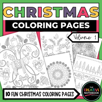 FREE Christmas Coloring Pages for Adults and Kids - Happiness is ... | 350x349