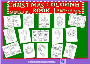 Christmas Coloring Book Sets 1-5