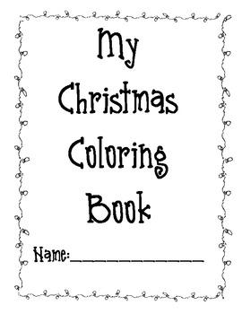 Christmas Coloring Book/Handwriting Book