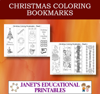 Christmas Coloring Bookmarks