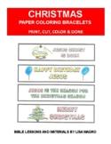Christmas Coloring Bracelets -  Print, Cut, Color & Wear!