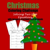Christmas Coloring Challenge: Solving Two-Step Equations
