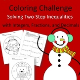 Christmas Coloring Challenge: Solving Two-Step Inequalities