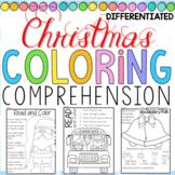 Christmas Coloring Comprehension FUN