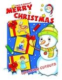Christmas Coloring Cutouts: Adorable Holiday Coloring Cutout Pages