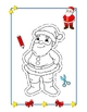 Christmas Coloring Cutouts: Adorable Holiday Coloring Cutout Pages