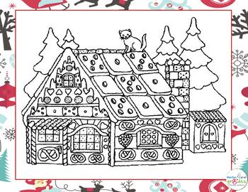Christmas Coloring Fill-er-in-er-er - Set 1