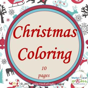 Christmas Coloring Printables.