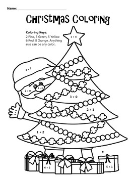 christmas coloring math coloring worksheet christmas coloring math coloring worksheet