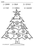 Christmas Coloring Math Worksheets