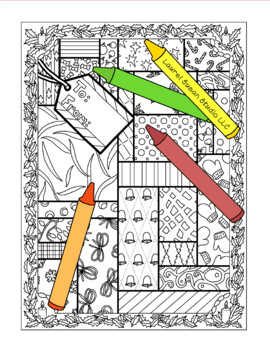 Christmas Coloring Page, Bulletin Board, Packages Holiday, Gift Wrapping