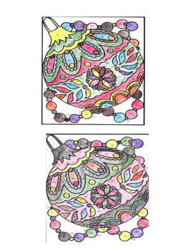 Spanish Christmas color by number coloring page ( 2 forms!)