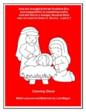 """""""The Birth of Jesus Christ"""" - Coloring Sheet - Print and Go!"""