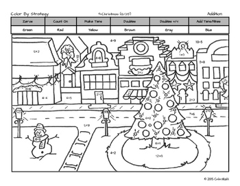 Christmas Coloring Page by: Subitizing, Addition, or Multiplication!