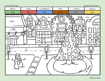 christmas coloring page for middle school math students the real number system