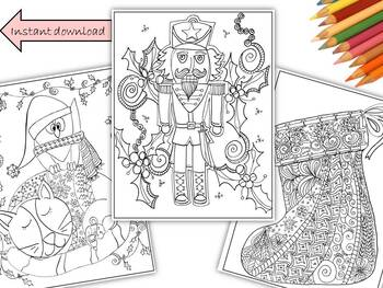 Christmas Coloring Pages 3 Pack